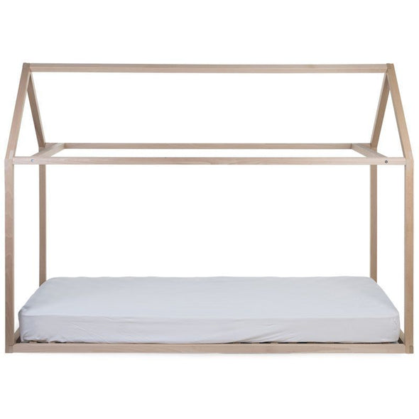 Letto Baldacchino Montessori Casetta Tipi Natural 90x200 Cm | CHILDHOME | RocketBaby.it