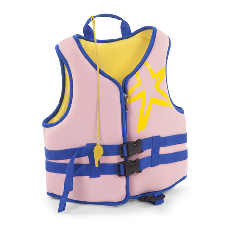 Giubbottino Salvagente in Neoprene Rosa e Blu - RocketBaby