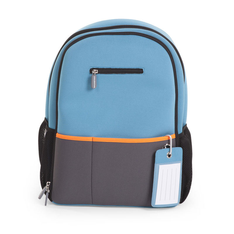 Zaino Fasciatoio in Neoprene Blue e Arancione | CHILDHOME | RocketBaby.it
