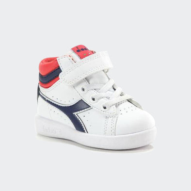 Diadora Baby Game P High TD White Blue e Red | DIADORA | RocketBaby.it