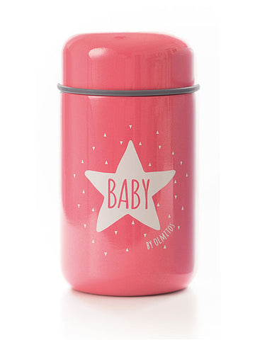 Thermos per Alimenti e Cucchiaio Baby Star Pink | OLMITOS | RocketBaby.it