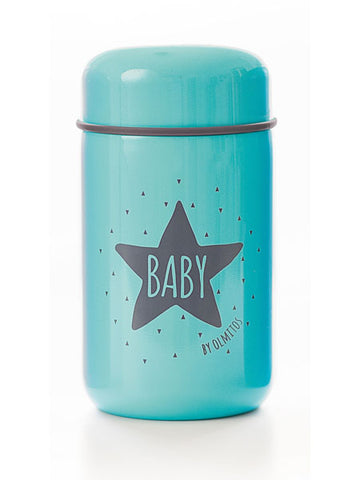 Thermos per Alimenti e Cucchiaio Baby Star Blue | OLMITOS | RocketBaby.it