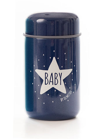 Thermos per Alimenti e Cucchiaio Baby Star Navy | OLMITOS | RocketBaby.it