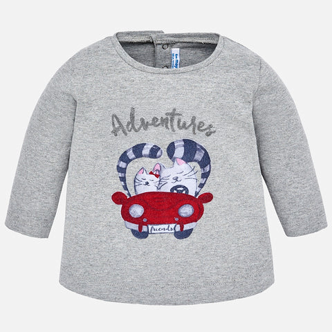 Maglietta A Manica Lunga Adventures Argento | MAYORAL | RocketBaby.it