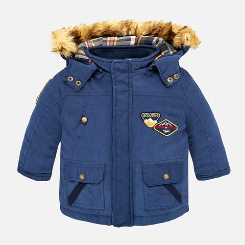 Cappotto Parka Con Cappuccio Turchese | MAYORAL | RocketBaby.it