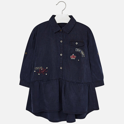 Vestito di Jean Denim Scuro | MAYORAL | RocketBaby.it