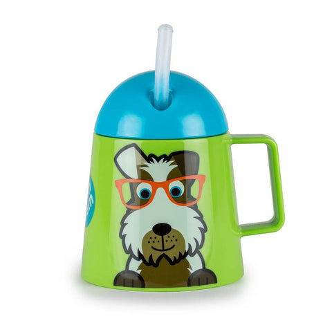Tazza Borraccia 2 in 1 con Cannuccia Cagnolino | TUM TUM | RocketBaby.it