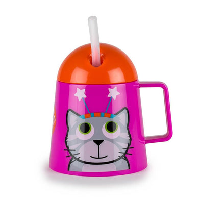 Tazza Borraccia 2 in 1 con Cannuccia Gattino | TUM TUM | RocketBaby.it