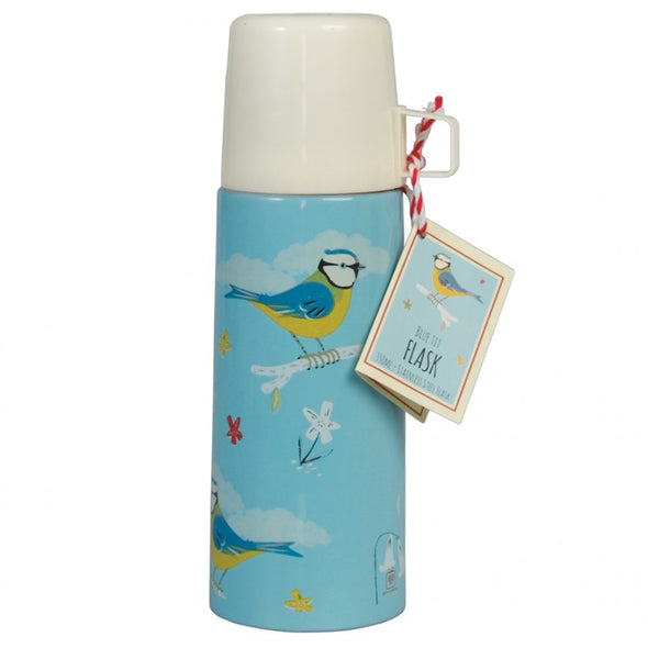 Borraccia Termica Con Bicchiere Blue Tit Design | REX LONDON | RocketBaby.it