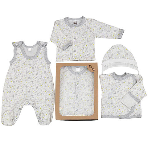 Set Regalo con Cuffia Salopette Maglie Felix | LORITA | RocketBaby.it