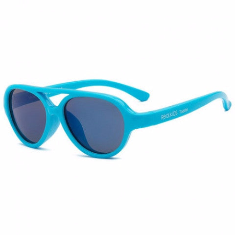 Occhiali da Sole Baby Sky Neon Blue 2+ e 4+ | REAL SHADES | RocketBaby.it