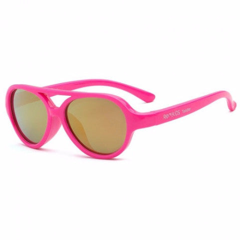 Occhiali da Sole Baby Sky Neon Pink 2+ e 4+ | REAL SHADES | RocketBaby.it