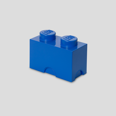 Box Portagiochi Lego con 2 Bottoni Blu | LEGO | RocketBaby.it