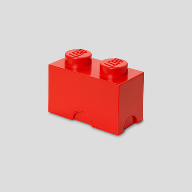 Box Portagiochi Lego con 2 Bottoni Rosso | LEGO | RocketBaby.it