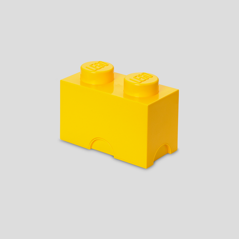 Box Portagiochi Lego con 2 Bottoni Giallo | LEGO | RocketBaby.it