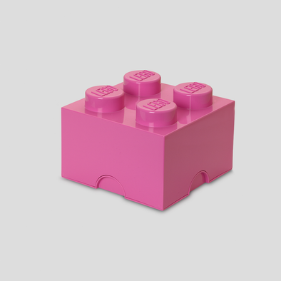 Box Portagiochi Lego con 4 Bottoni Fucsia | LEGO | RocketBaby.it