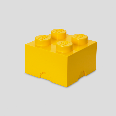 Box Portagiochi Lego con 4 Bottoni Giallo | LEGO | RocketBaby.it