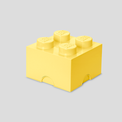 Box Portagiochi Lego con 4 Bottoni Giallo Pastello | LEGO | RocketBaby.it