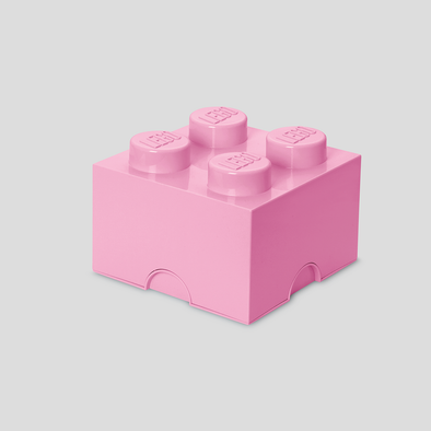 Box Portagiochi Lego con 4 Bottoni Rosa Antico | LEGO | RocketBaby.it