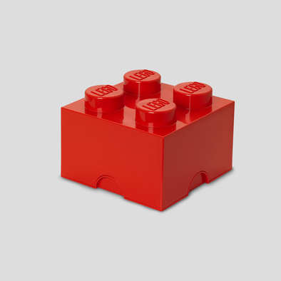 Box Portagiochi Lego con 4 Bottoni Rosso | LEGO | RocketBaby.it
