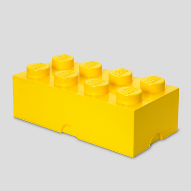 Box Portagiochi Lego con 8 Bottoni Giallo | LEGO | RocketBaby.it