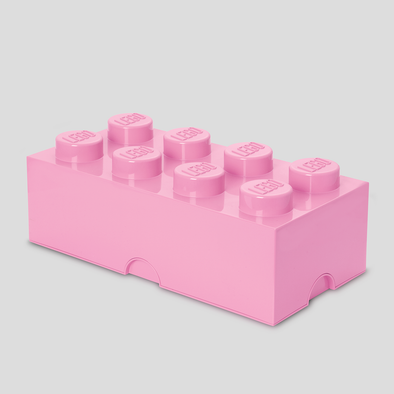 Box Portagiochi Lego con 8 Bottoni Rosa Antico | LEGO | RocketBaby.it
