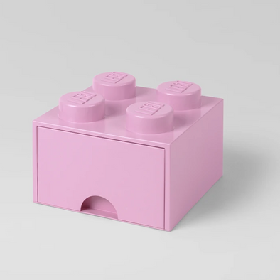 Box Portagiochi Lego con Cassetto a 4 Bottoni Rosa Antico | LEGO | RocketBaby.it