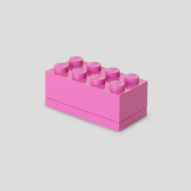 Minibox Portagiochi Lego a 8 Bottoni Fucsia | LEGO | RocketBaby.it