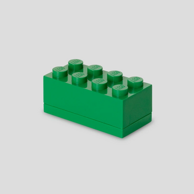 Minibox Portagiochi Lego a 8 Bottoni Verde | LEGO | RocketBaby.it