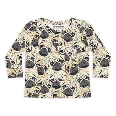 Maglietta a Maniche Lunghe Pug Off | SLEEP NO MORE | RocketBaby.it