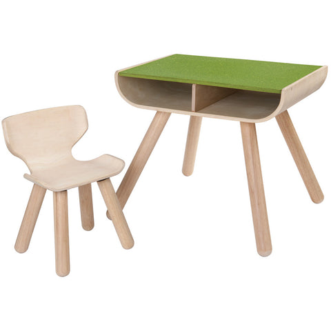 Set Tavolo Con Sedia Green | PLAN TOYS | RocketBaby.it