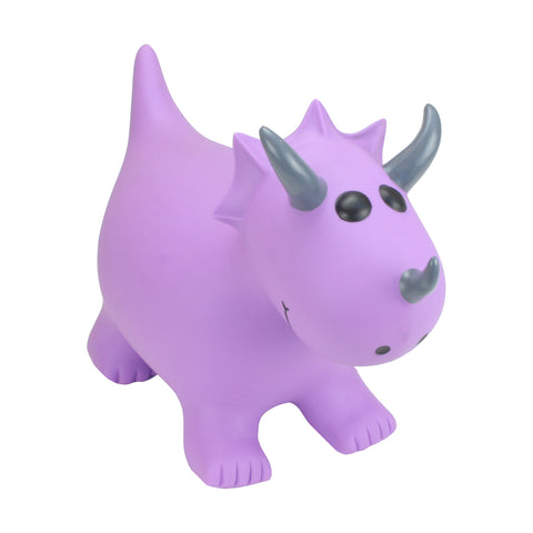 Gonfiabile Cavalcabile Small Purple Triceratops | HAPPY HOPPERZ | RocketBaby.it