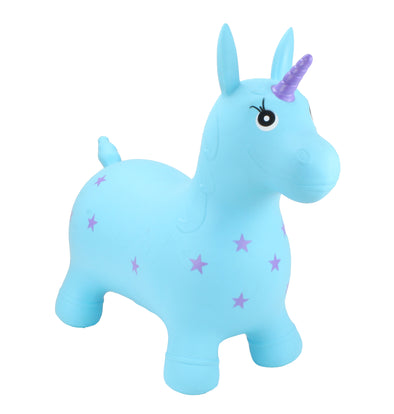 Gonfiabile Cavalcabile Medium Turquoise Unicorn | HAPPY HOPPERZ | RocketBaby.it