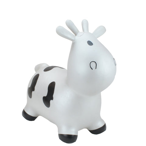 Gonfiabile Cavalcabile Small Silver Cow | HAPPY HOPPERZ | RocketBaby.it