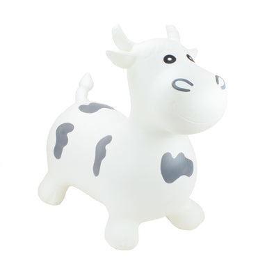 Gonfiabile Cavalcabile Medium White Big Face Bull | HAPPY HOPPERZ | RocketBaby.it