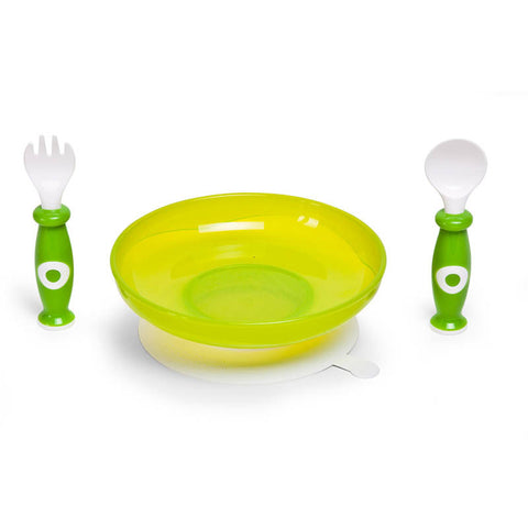 Set Pappa Verde e Bianco con Ventosa | CHILDHOME | RocketBaby.it
