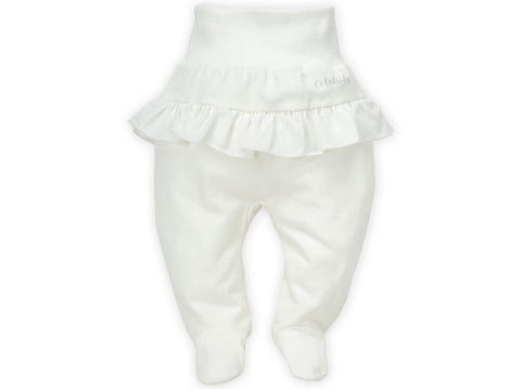 Pantaloni Con Piedini Celebrity Girl Ecru | PINOKIO | RocketBaby.it