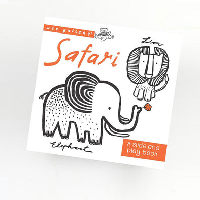 Libro Slide and Play Safari | WEE GALLERY | RocketBaby.it