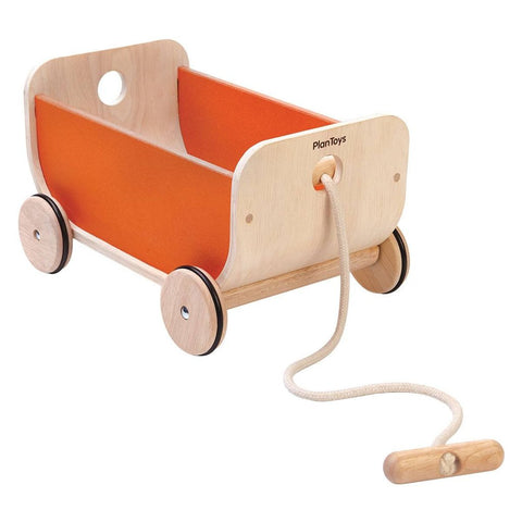 Carretto In Legno Orange | PLAN TOYS | RocketBaby.it