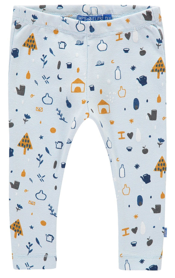 Leggings Pattern Light Blue | IMPS&ELFS | RocketBaby.it