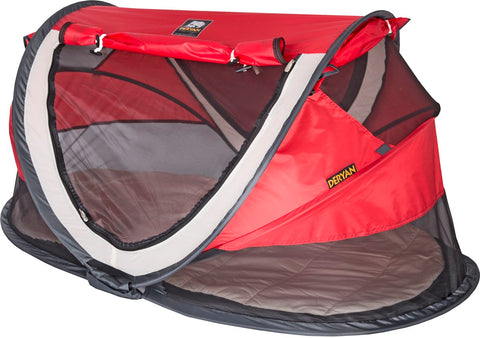 Tenda e Lettino Popup Anti UV Peuter Luxe Red 4+ Anni | DERYAN | RocketBaby.it