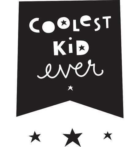 Stickers da Muro: Coolest Kid Ever | A LITTLE LOVELY COMPANY | RocketBaby.it