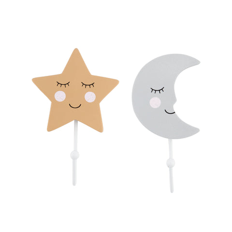 Appendino Sweet Dreams Moon and Star Hook | SASS & BELLE | RocketBaby.it