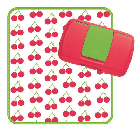 Fasciatoio Portatile con Portasalviette Cherry Delight | B BOX | RocketBaby.it