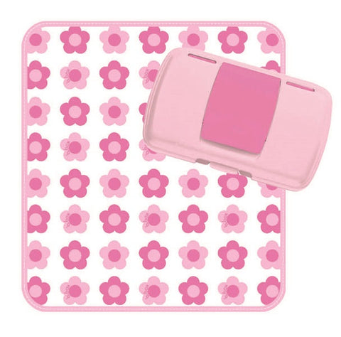 Fasciatoio Portatile con Portasalviette Flower Power | B BOX | RocketBaby.it