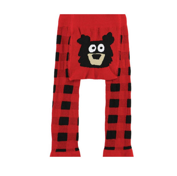 Leggings Baby Red Bear Plaid | LAZY ONE | RocketBaby.it
