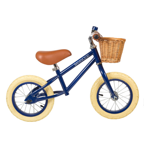Bicicletta Balance Bike First Go Navy Blue | BANWOOD | RocketBaby.it