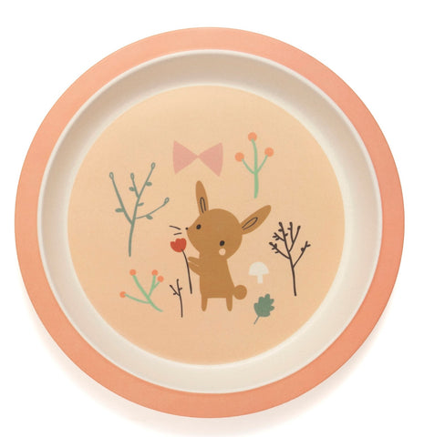 Piatto In Bamboo Bunny | PETIT MONKEY | RocketBaby.it