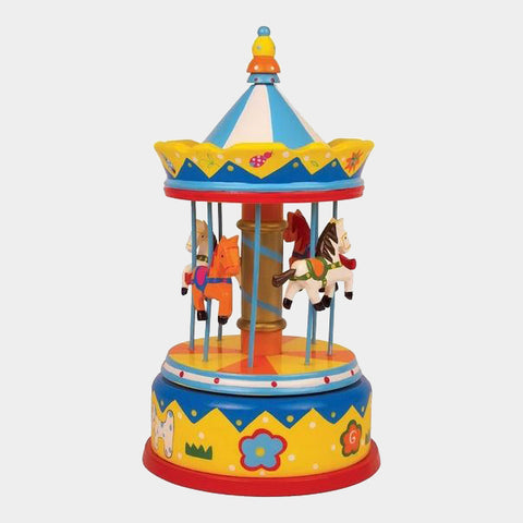 Carillon Giostra Con Cavalli Multicolor | LEGLER | RocketBaby.it