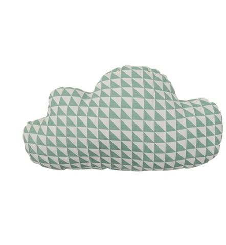Cuscino Nuvoletta Double face Verde Bianco - RocketBaby - 2